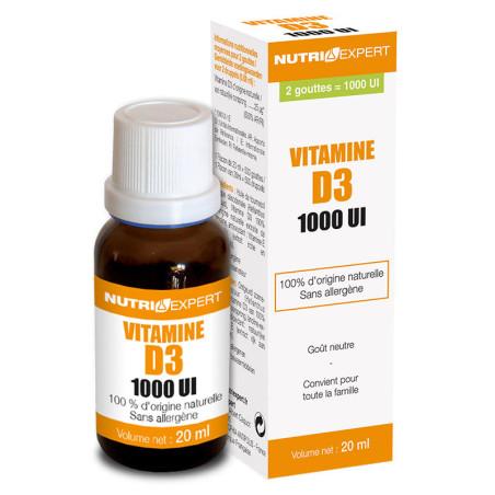 Vitamine D3 Naturelle 1000 UI - VIP
